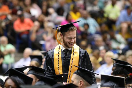 Image of student at Danville Community College's graduation ceremony
