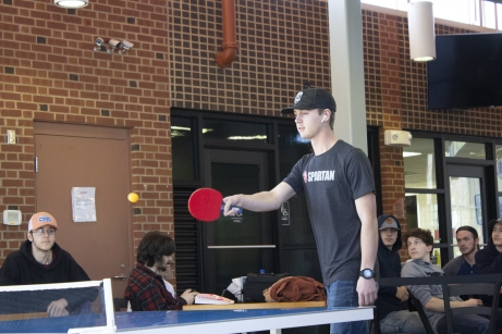 Students playing ping pong